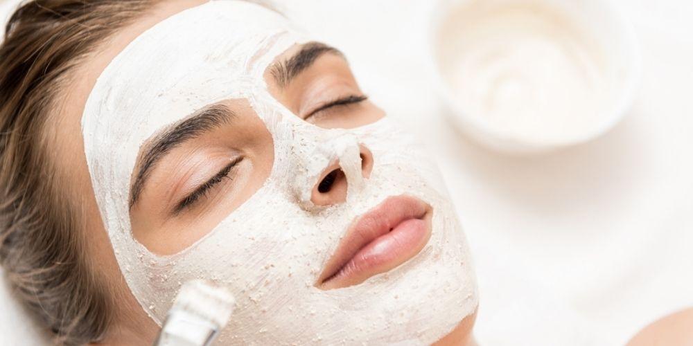 Diamond facial with bleach